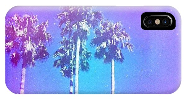 Blue Palms IPhone Case