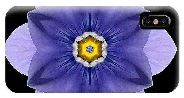 Blue Pansy I Flower Mandala IPhone Case