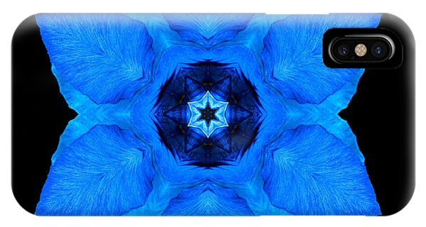 Blue Pansy II Flower Mandala IPhone Case
