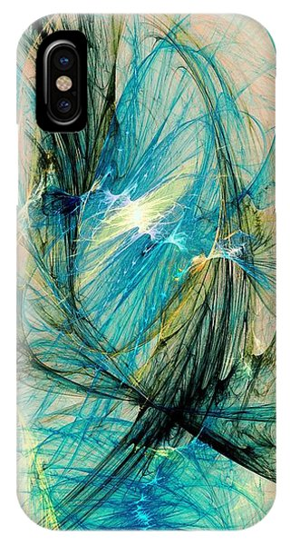 Blue Phoenix IPhone Case