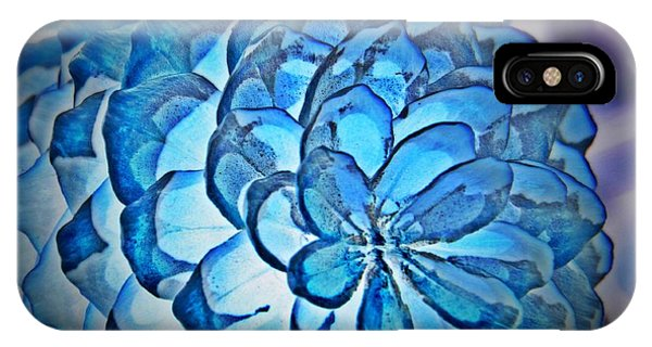 Blue Pine Cone 2 IPhone Case