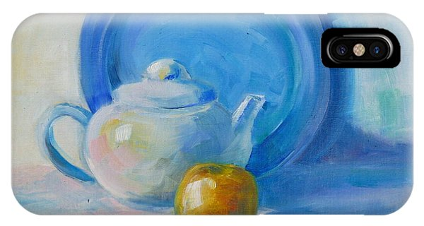 Blue Plate Special Phone Case by Valerie Lynch