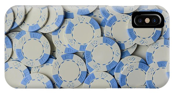 Blue Poker Chip Background IPhone Case