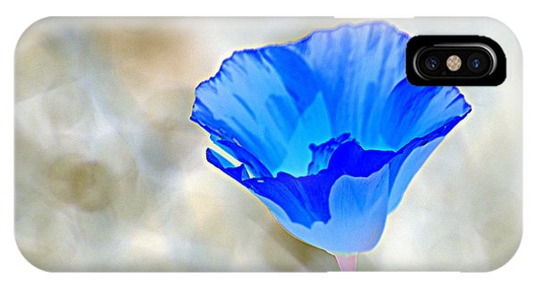 Blue Poppy IPhone Case