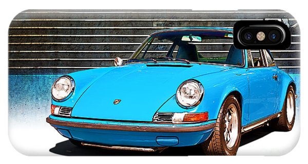 Blue Porsche 911 IPhone Case