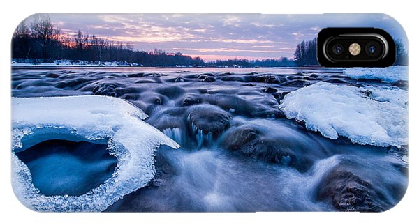 Blue Sky iPhone Case - Blue Rapids by Davorin Mance