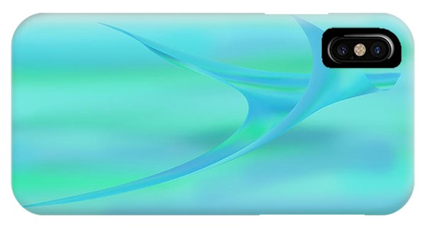Blue Ray IPhone Case