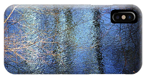Blue Reflections Of The Patapsco River IPhone Case