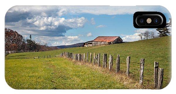 Blue Ridge Farm Land IPhone Case