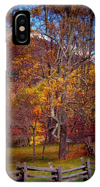 Blue Ridge Fenced In Fall IPhone Case