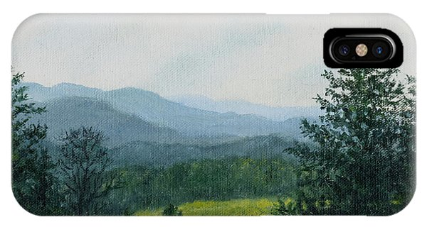 Blue Ridge Mountain Meadow - After The Rain IPhone Case