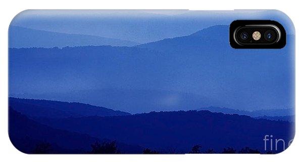 Blue Ridge Mountain Panoramic  IPhone Case