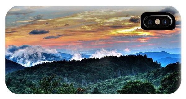 Blue Ridge Mountain Sunrise  IPhone Case