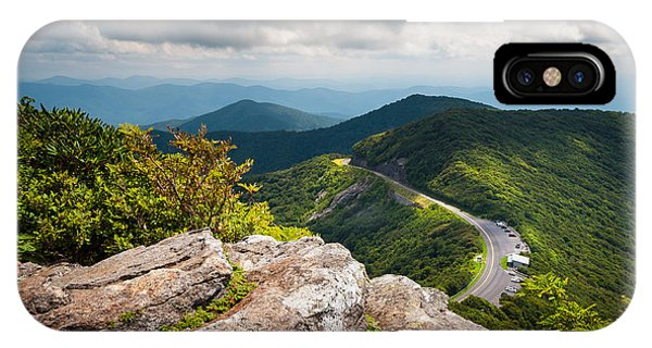 Appalachian Mountains iPhone Case - Blue Ridge Parkway - Asheville Nc Craggy Gardens Overlook by Dave Allen