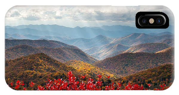 Nc iPhone Case - Blue Ridge Parkway Fall Foliage - The Light by Dave Allen