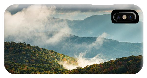 Blue Ridge Parkway Nc Autumn Morning Phone Case by Dave Allen