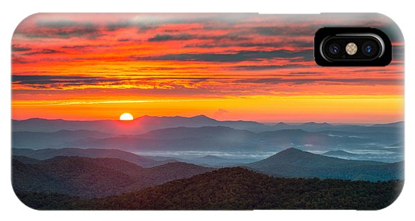North Carolina Blue Ridge Parkway Nc Autumn Sunrise IPhone Case
