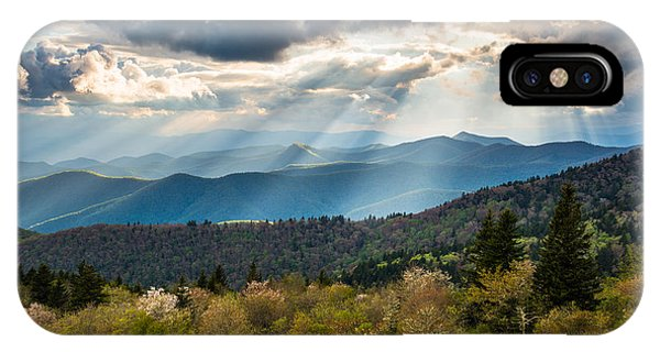 Nc iPhone Case - Blue Ridge Parkway North Carolina Mountains Gods Country by Dave Allen