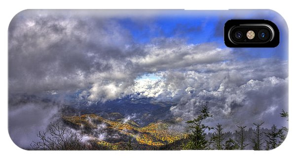 Up Among The Clouds Blue Ridge Parkway Waterrock Knob IPhone Case