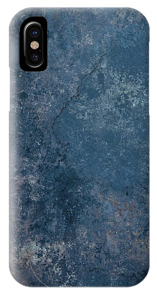 Blue Rustic Metal Background IPhone Case