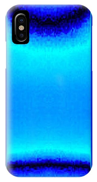 Blue Satin Ribbon IPhone Case