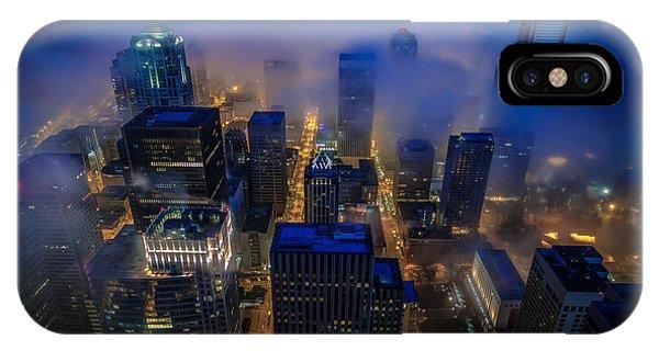 Downtown Seattle iPhone Case - Blue Seattle by Mike Reid