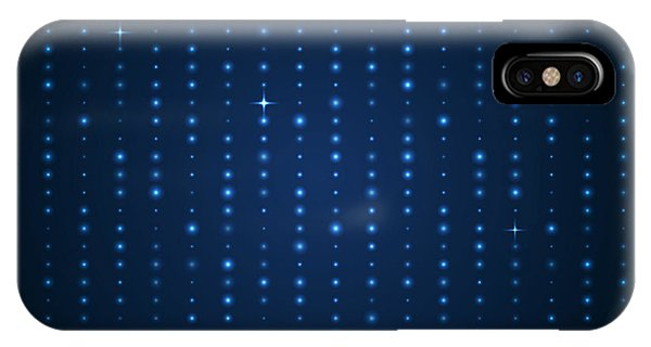Futuristic iPhone Case - Blue Shining Pattern. Vector Background by Mastak A