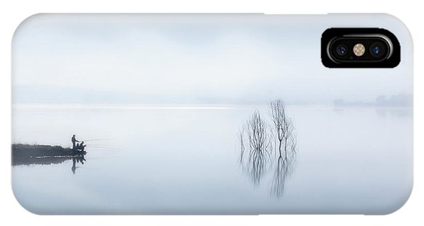 Fog Mist iPhone Case - Blue Silence by Jose Beut
