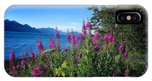 Blue Skies Seward Alaska IPhone Case