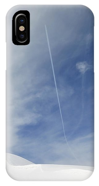 Blue Sky And Snow IPhone Case