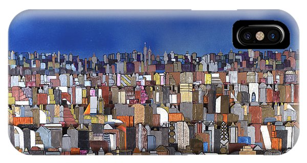 Blue Sky Big City IPhone Case