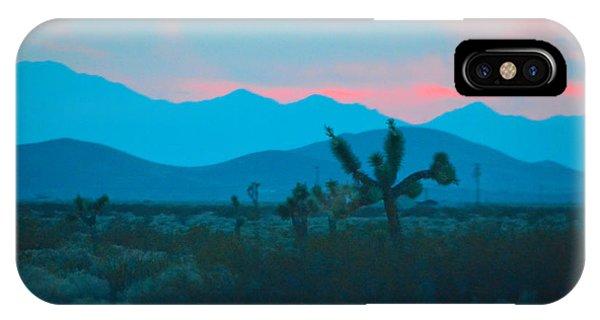 Blue Sky Cacti Sunset IPhone Case