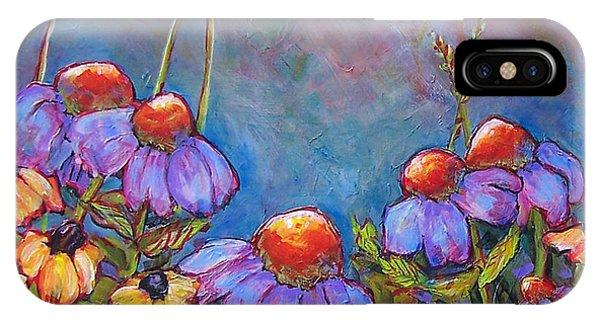 Blue Sky Flowers Phone Case by Blenda Studio