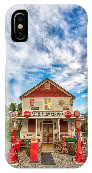 Blue Sky Over Rick's Antiques IPhone Case
