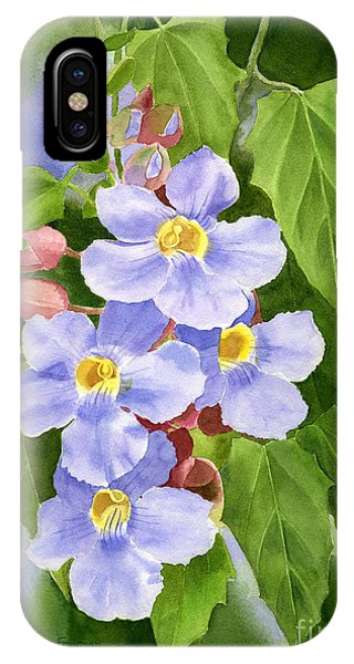 Blue Sky Vine With Background Phone Case by Sharon Freeman