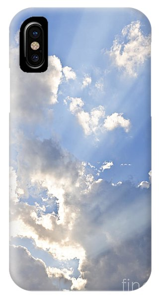 Skyscape iPhone Case - Blue Sky With Sun Rays by Elena Elisseeva
