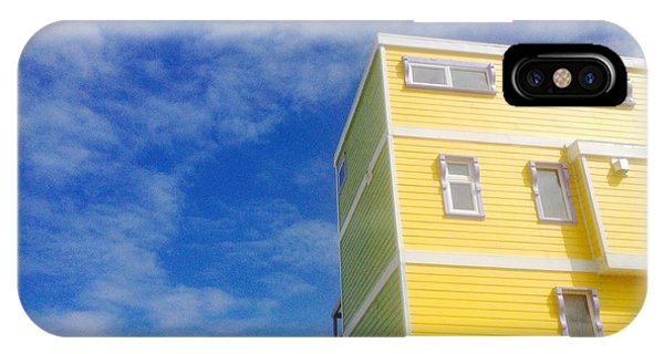 Blue Sky Yellow House IPhone Case