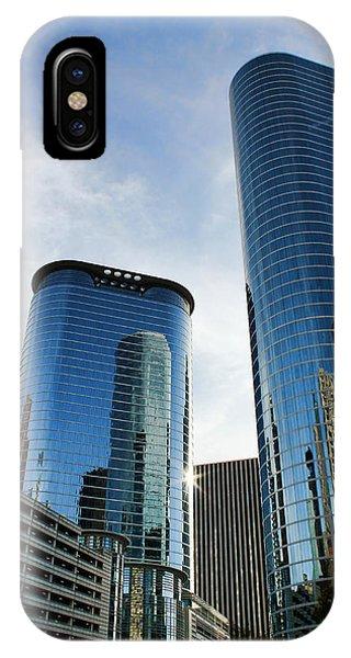 Blue Skyscrapers IPhone Case