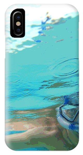 Blue Snorkel IPhone Case