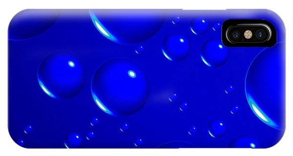 Blue Sphere-abstract Phone Case by Tom Druin