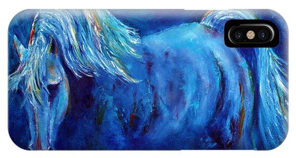 Blue Stallion IPhone Case