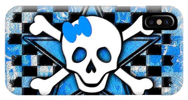 Blue Star Skull IPhone Case