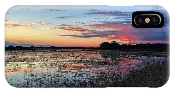 Blue Sunset Over The Refuge IPhone Case