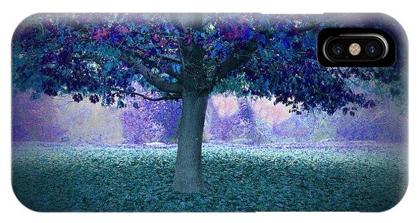 Blue Tree Monet Painting Background IPhone Case