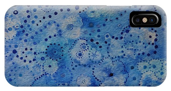 Blue Triptych I Phone Case by Catherine Arcolio