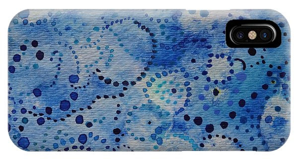 Blue Triptych IIi Phone Case by Catherine Arcolio