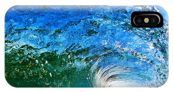 Waves iPhone Case - Blue Tube by Paul Topp
