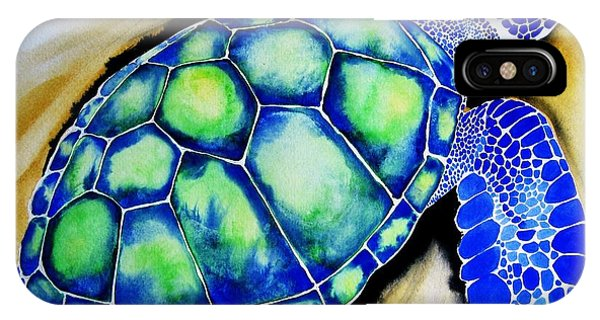 Blue Turtle IPhone Case