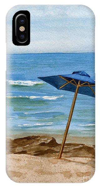 Blue Umbrella IPhone Case