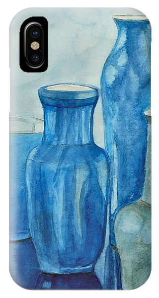 Blue Vases I IPhone Case